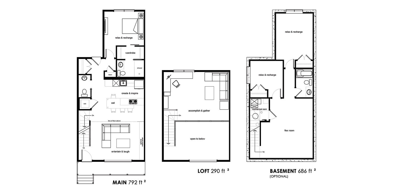 House Plan With Loft - BRIGHTON LOFTS